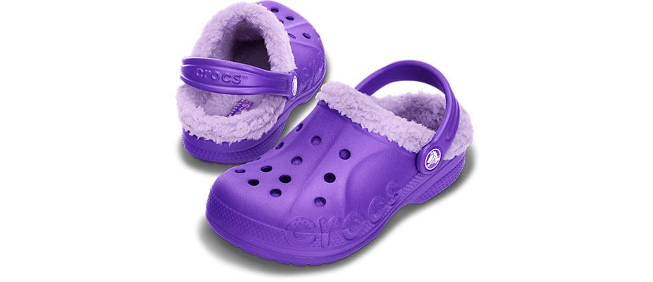 crocs forrados nina baya lined kids lila