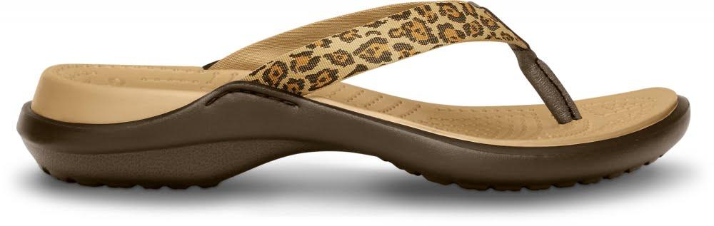 Women Capri IV Leopard Print Flip-Flop