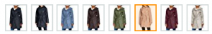 Colores de los abrigos impermeables temporada invierno 2017