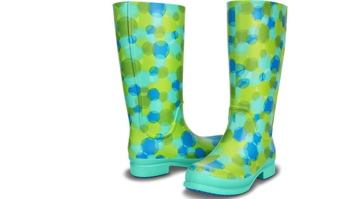 Botas de Agua Crocs: wellie polka dot rain boot